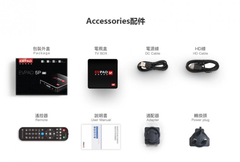 易播電視 Evpad 5P 智能語音電視盒 4+32GB
