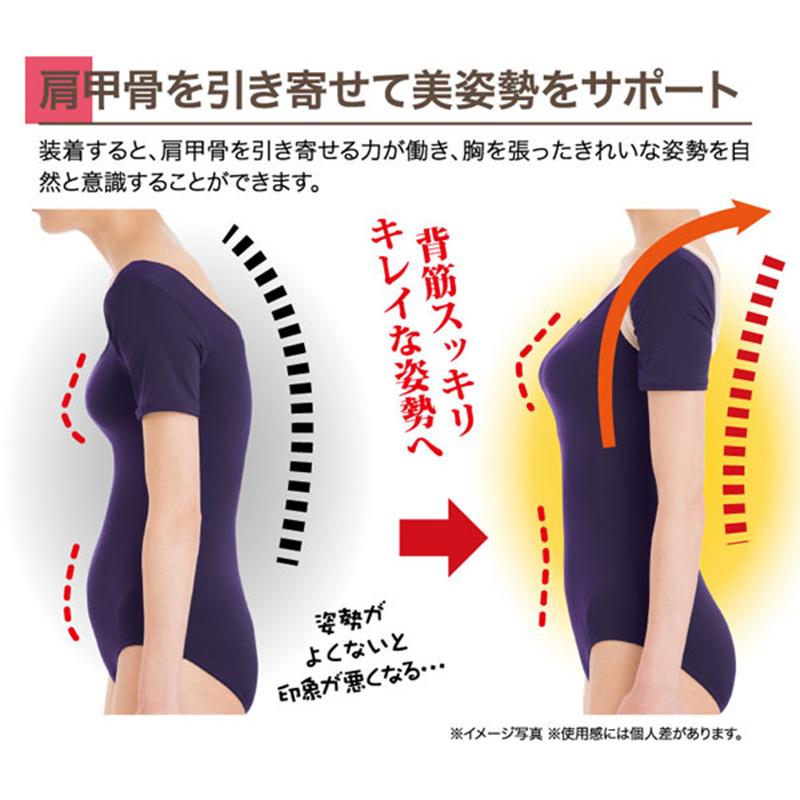 日本Dr. Pro 【成人M~L碼】脊椎姿勢矯正帶 改善駝背【市集世界 - 日本市集】
