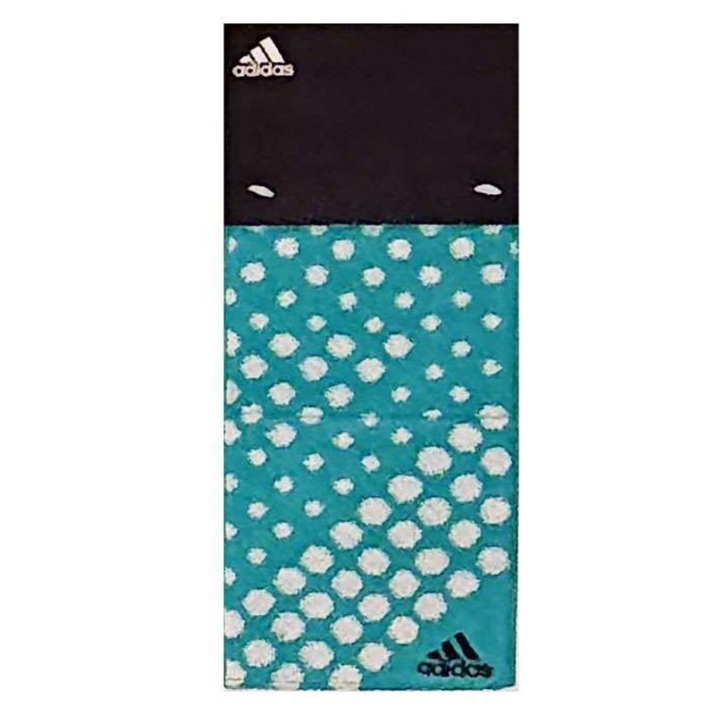 日版 Adidas【綠底白波點】純棉運動毛巾(806) 12x85cm【市集世界 - 日本市集】