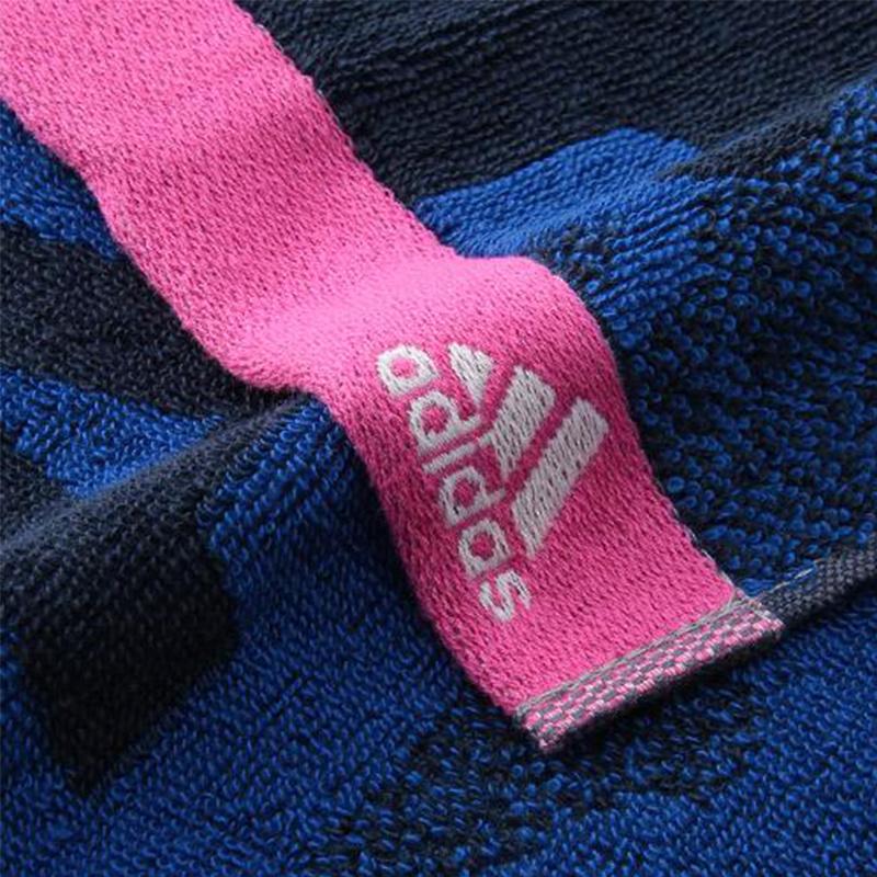 日版 Adidas【藍迷彩】純棉運動毛巾(934) 20x90cm【市集世界 - 日本市集】