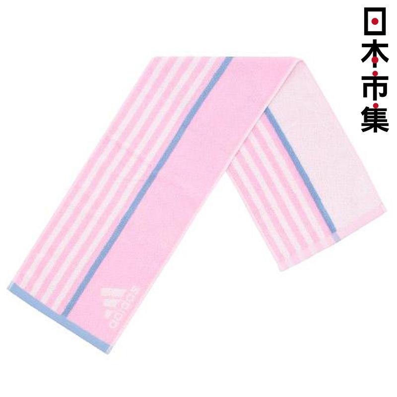 日版 Adidas【粉紅色】純棉運動毛巾(989) 20x90cm【市集世界 - 日本市集】