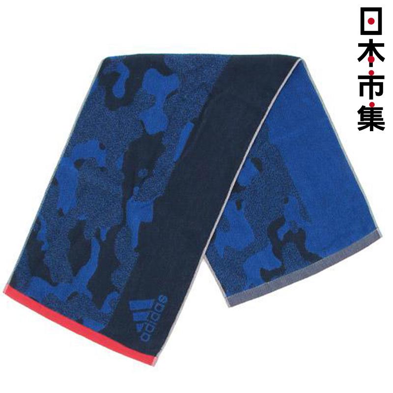 日版 Adidas【藍迷彩】純棉運動毛巾(071) 34x105cm【市集世界 - 日本市集】