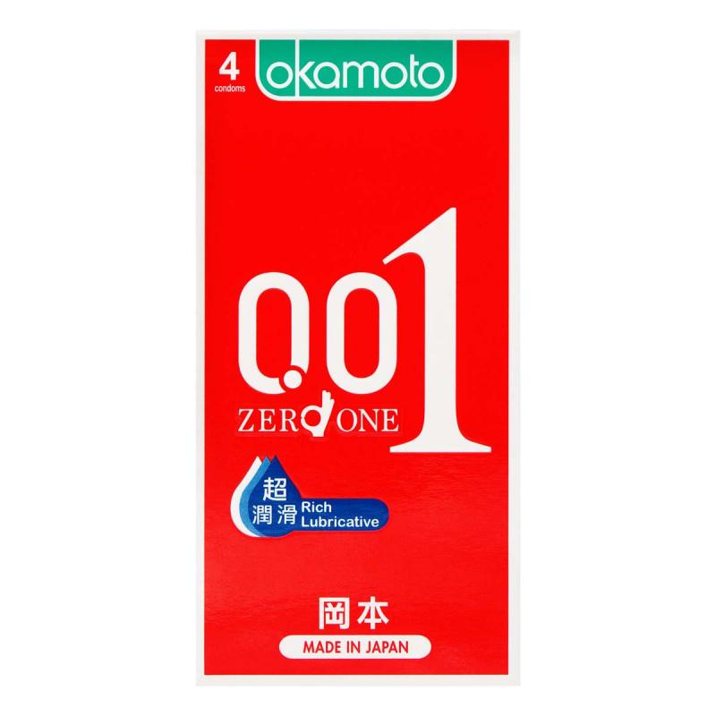 岡本0.01 超潤滑超薄安全套 4片裝 (香港行貨)