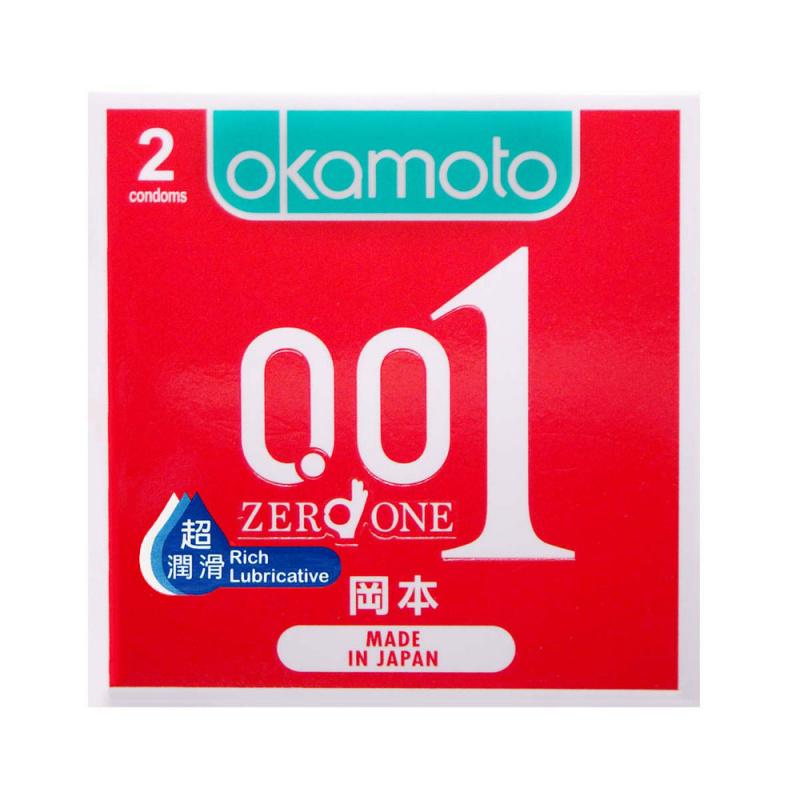 岡本0.01 超潤滑超薄安全套 2片裝 (香港行貨)