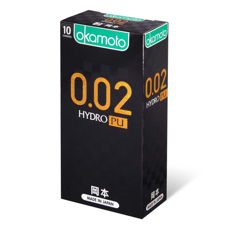 岡本0.02 Hydro PU 水性聚氨酯安全套 10片裝 (香港行貨)