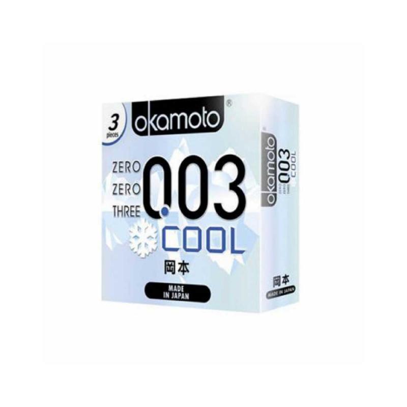 岡本 0.03 冰涼乳膠安全套 3片裝 (香港行貨)