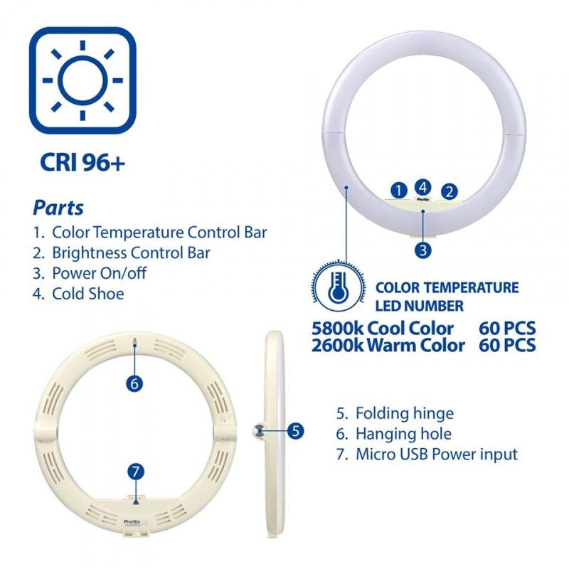 Phottix Nuada Ring 10 LED Light