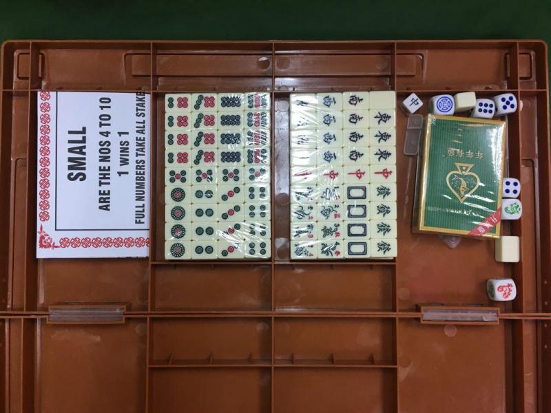 (Large)4 in 1 mah-jong traveling game/mahjong +fish shrimp crab+Tai-sai+poker /加大版4 合1 麻雀遊戲/