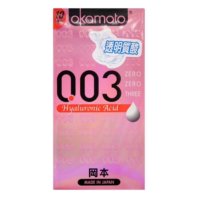 岡本 0.03 透明質酸安全套 10 片裝(香港行貨)