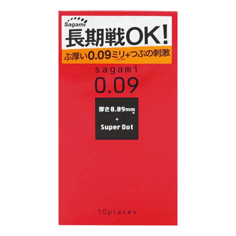 日本相模Sagami 0.09持久凸點安全套(10片裝)