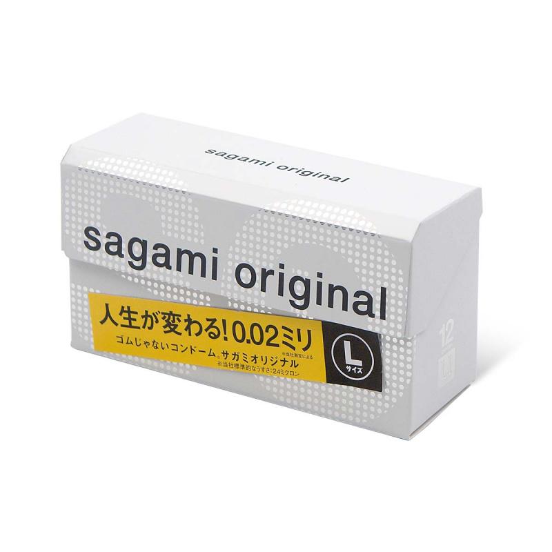 日本相模Sagami 0.02大碼(第二代)PU安全套(12片裝)