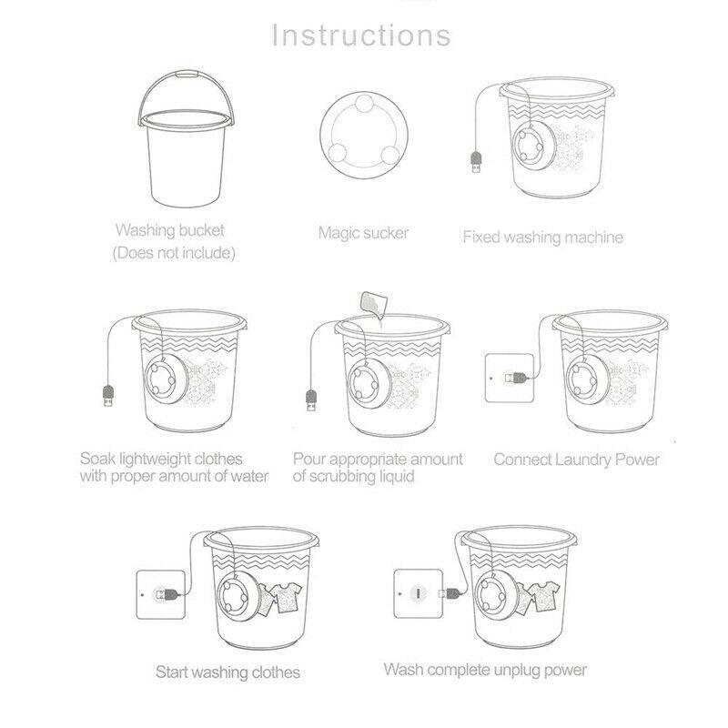 便攜USB超聲波洗衣機渦輪清洗機第三代