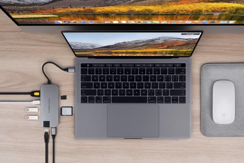 HyperDrive 8 In 1 Type C hub 擴展器 USB-C Hdmi SD Ethernet