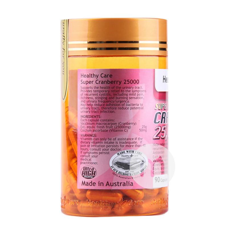 澳洲 Healthy Care Super Cranberry 25000 高含量蔓越莓 [90粒]