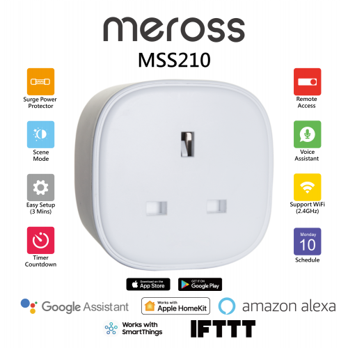 Meross MSS210 Apple HomeKit 智能定時插頭