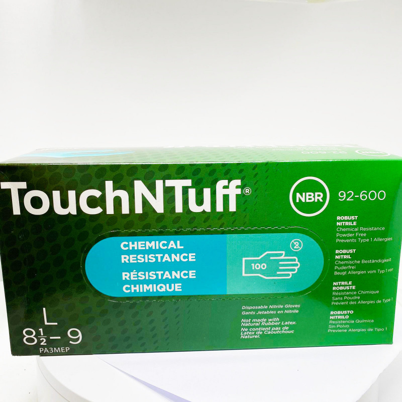 Ansell TouchNTuff 一次性無粉乳膠耐磨丁腈手套 (大碼) 100pcs/盒
