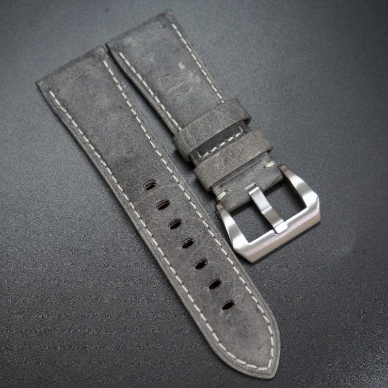 26mm 灰色意大利牛皮錶帶 適合Panerai