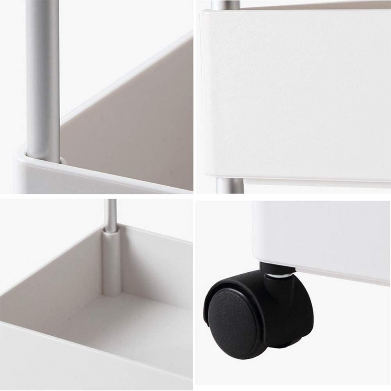 四層小型罅隙置物架手推車 [白色]