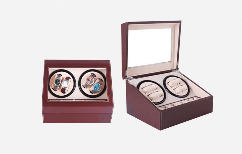 Watch Winder 雙摩打4錶位旋轉自動上鏈搖錶盒 (共10手錶位)