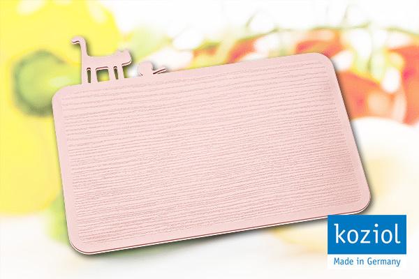 KOZIOL|貓咪&小鳥防滑砧板 (粉紅)|德國製造