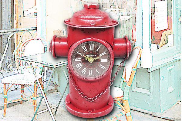 仿古消防水龍頭時鐘|日本直送