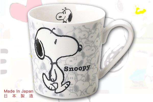 Snoopy懷舊馬克杯系列 (淺灰背景)|日本製造