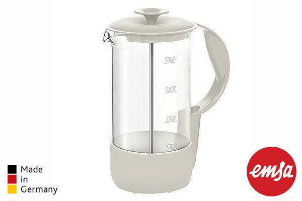 EMSA|NEO法式濾壓手沖咖啡壼 (白/1.0L)|德國製造