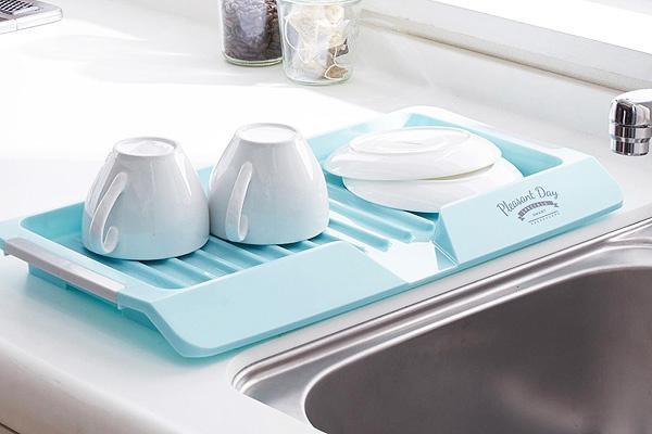 時尚優質餐具風乾墊 (藍/日本製造)