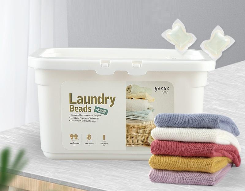 [泰國製] Yesus Laundry ball 濃縮 3合1洗衣凝珠洗衣球-40枚入[爽身粉味]