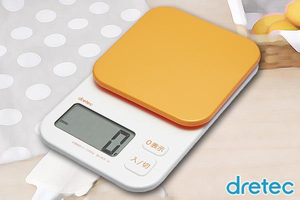 日本DRETEC時尚食物磅 (橙/1kg)