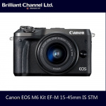 Canon EOS M6 Kit EF-M 15-45mm IS STM 鏡頭套裝 [黑色]