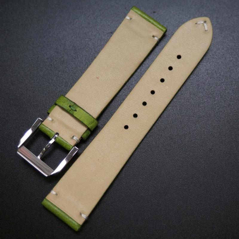 20mm 青綠色復古牛皮錶帶 適合Rolex, Omega, IWC etc
