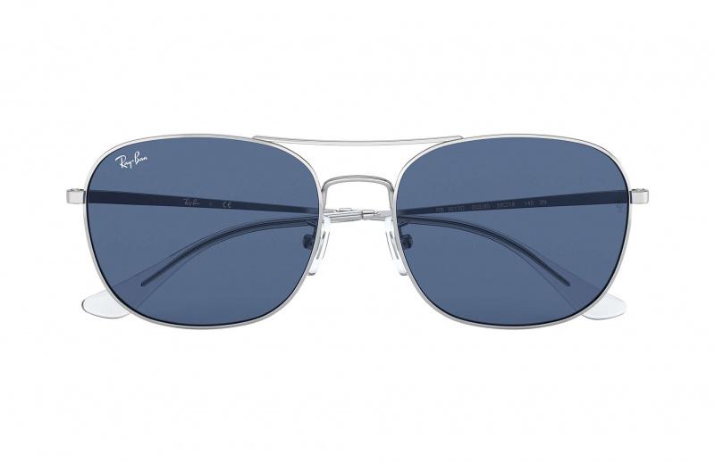 Ray-Ban RB3613D Blue Classic 藍色經典鏡片太陽眼鏡 | 003/80 銀色鏡框