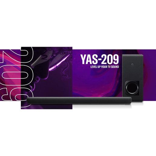 Yamaha Virtual 3D Surraound sound bar YAS 209 Alexa