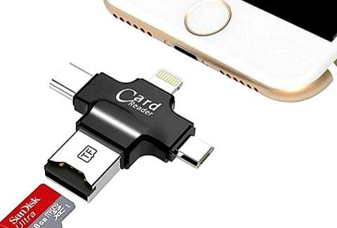 4合1鋅合金微型讀卡器