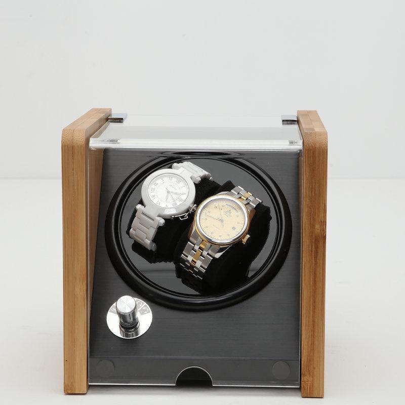 Watch Winder 竹木 (2錶位) 搖錶器 自動旋轉靜音自動上鏈錶盒