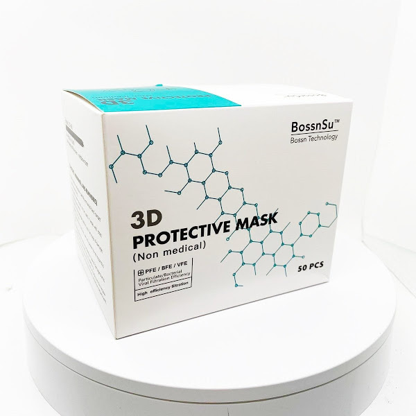 BossnSu™ KN95 3D立體防護口罩 (CE & FDA認證)
