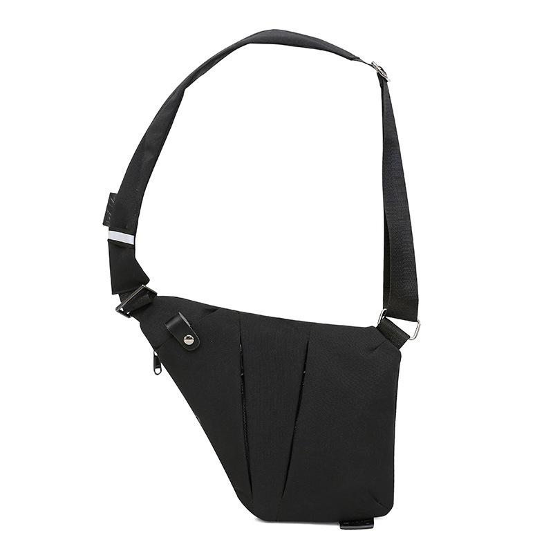 M-plus . DXYZ -男士數碼收納槍包帆布胸包斜挎運動腰包多功能貼身單肩防盜包