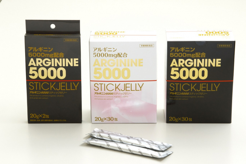 [激抵搶購價] Arginine 5000 Stick Jelly 日本精氨酸5000棒果凍 (30條/盒, 2條/盒)