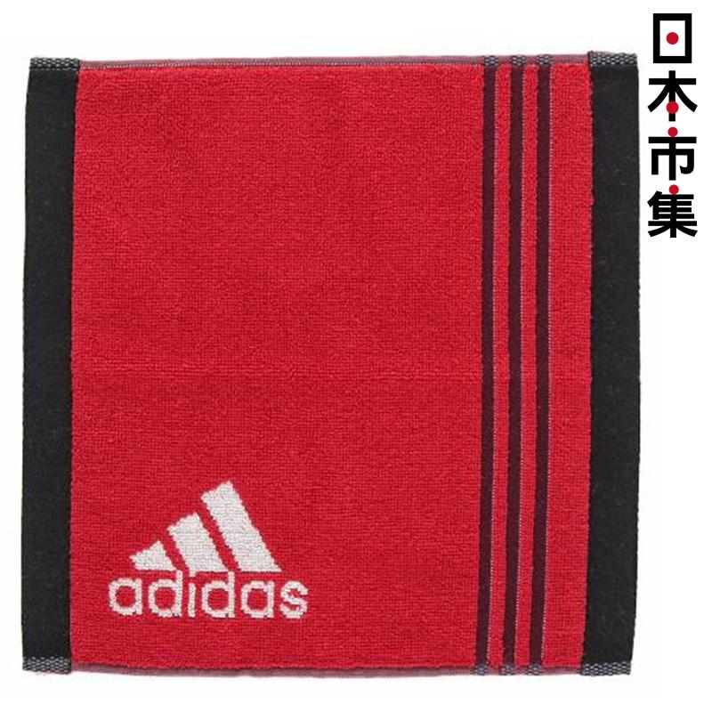 日版 Adidas【紅色】運動方巾(160) 25x25cm【市集世界 - 日本市集】