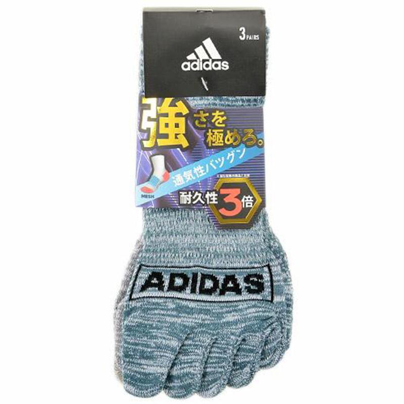 日版 Adidas 3對裝5指運動襪(058) 24~26cm【市集世界 - 日本市集】