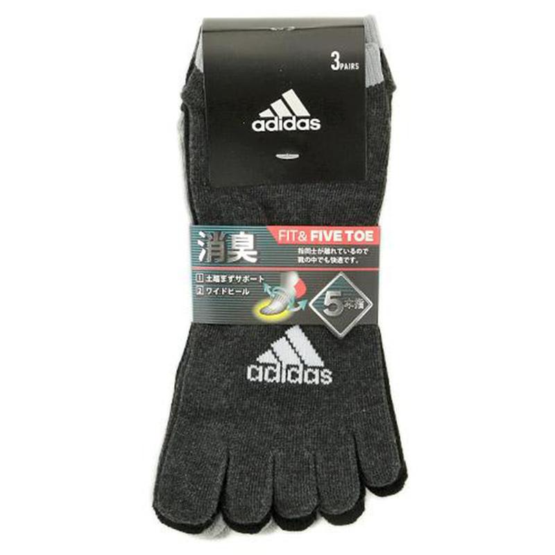 日版 Adidas 3對裝5指運動襪(669) 24~26cm【市集世界 - 日本市集】
