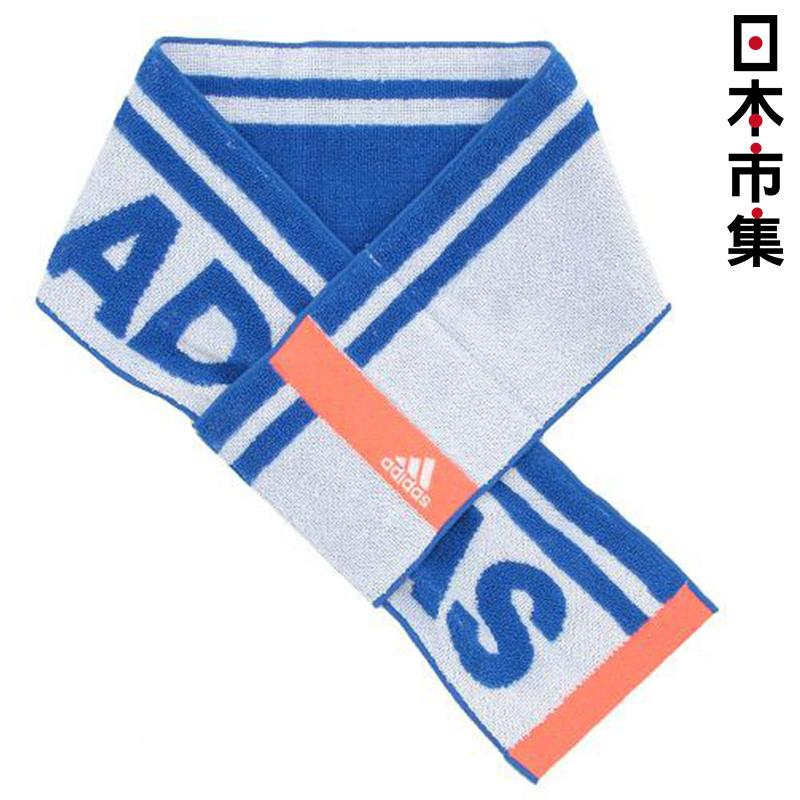 日版 Adidas【藍色橙間Logo】運動毛巾(956) 12x85cm【市集世界 - 日本市集】