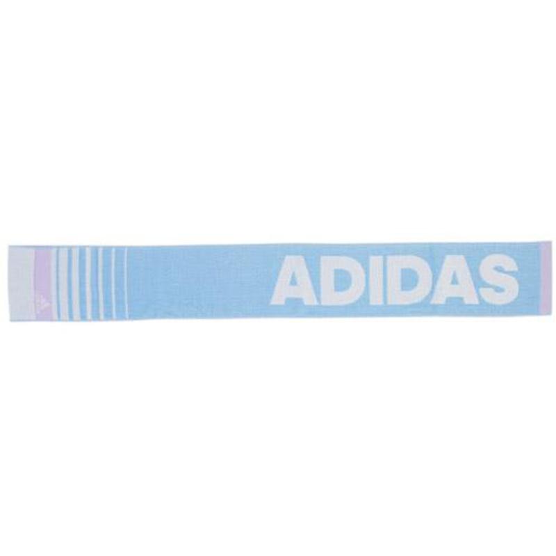 日版 Adidas【粉藍橫間Logo】運動毛巾(248) 12x90cm【市集世界 - 日本市集】