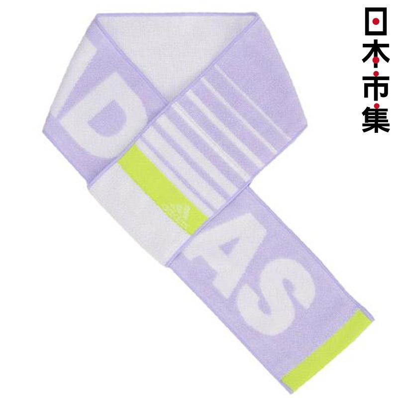 日版 Adidas【粉紫橫間Logo】運動毛巾(354) 12x90cm【市集世界 - 日本市集】