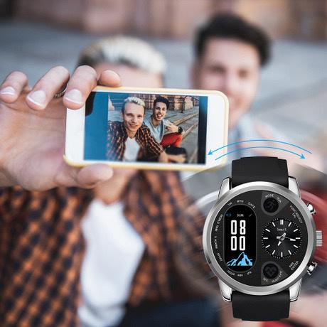 Burno T3-Pro Fitness Watch心率血壓運動睡眠監測雙時區顯示智能手錶 [2色]