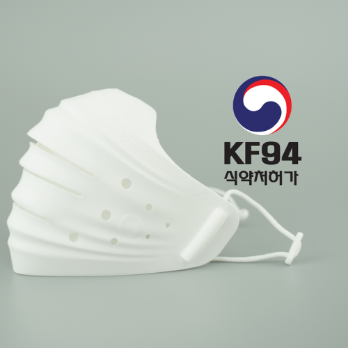 韓國專利 Hoooah Mask KF94 可換式口罩 每套包含:一個口罩 連3個過濾網