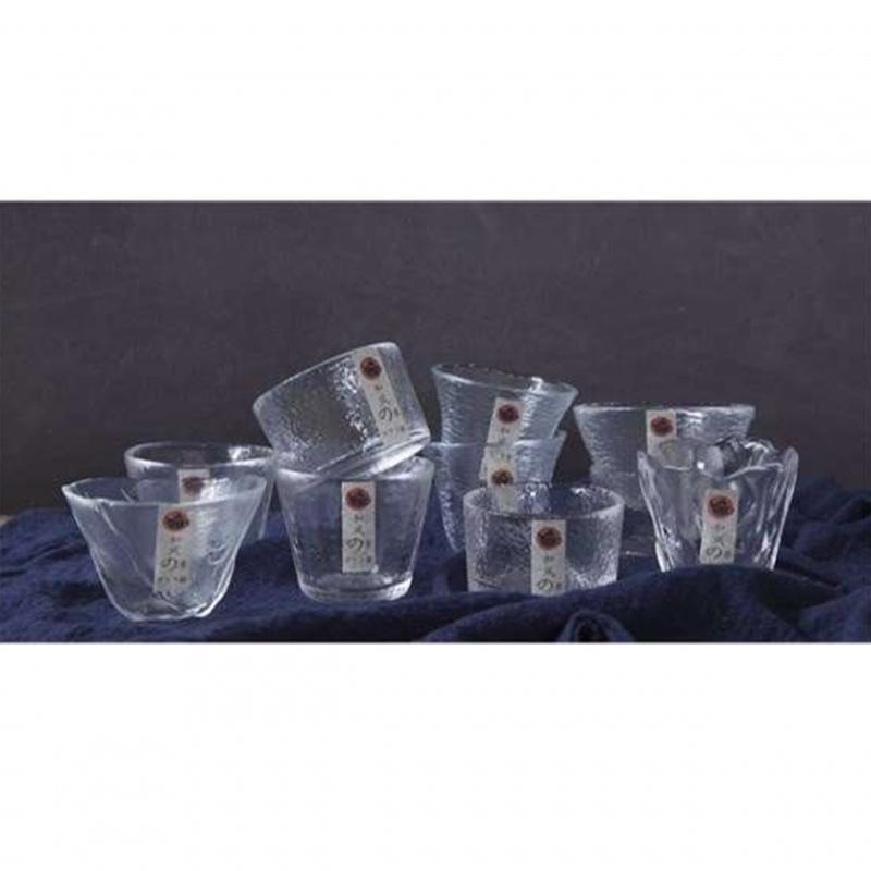 和風玻璃清酒杯 #0081