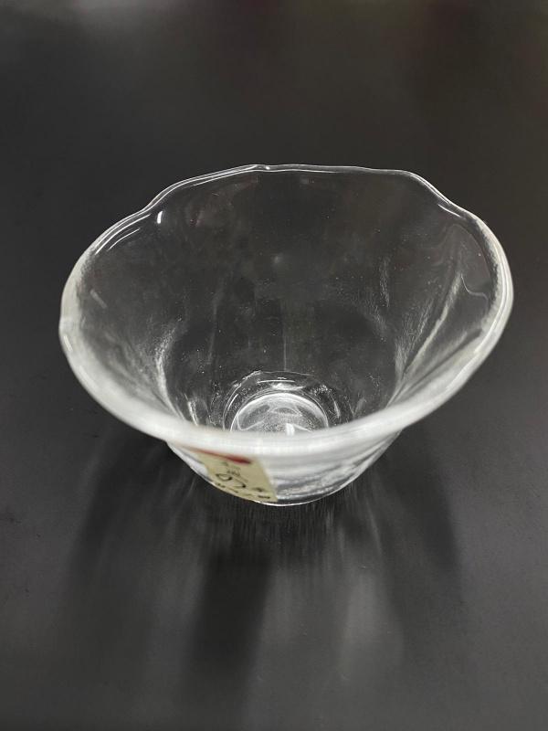 日式加厚不規則 清酒杯 透明玻璃小茶杯 小酒杯 #0081