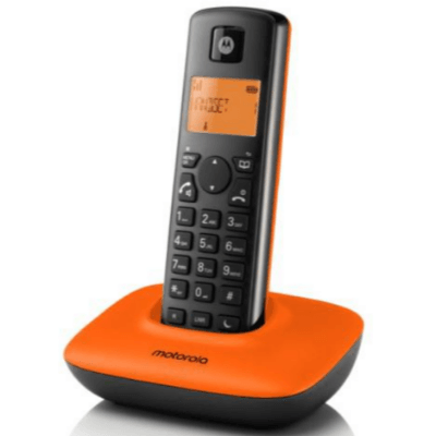 Motorola - T401+ 數碼室內無線電話橙色